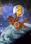 ours et ourson dans l'espaceC