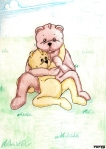 ours et ourson hug